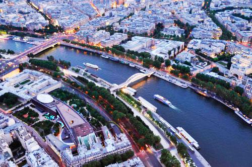 Вечірній Париж, вигляд зверху