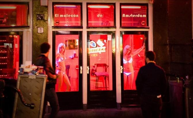 Квартал Червоних ліхтарів в Амстердамі