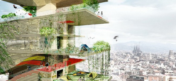 проект незвичайного іспанського готелю Trekking Tower