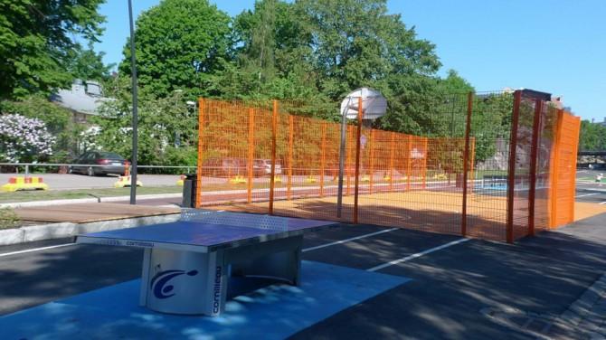 Баскетбольний майданчик і столи для пінг-понгу в Хельсінкі