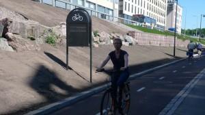 Велосипедисти в Хельсінкі відокремилися від пішоходів і автолюбителів