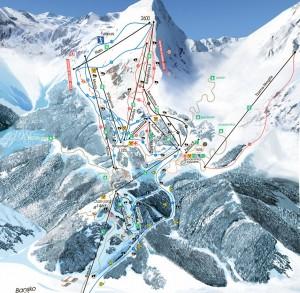 Гірськолижна карта Банско