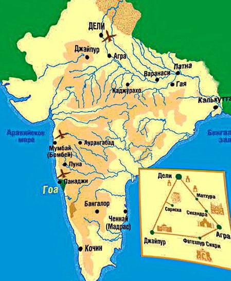 Карта Індії