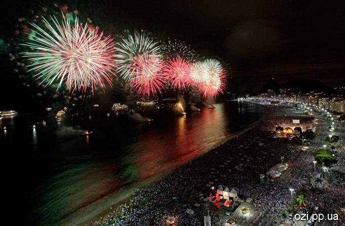 Новий рік в Ріо-Де-Жанейро