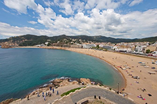 міський пляж Тосса-де-Мар