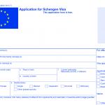 Зразок форми на отримання шенгенської візи