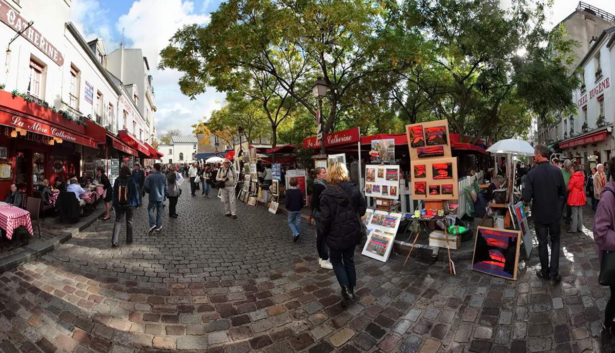 Площадь художников на монмартре