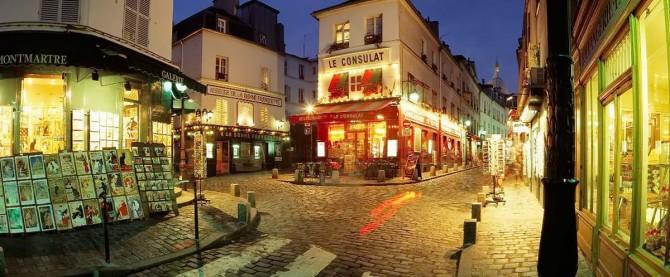 вулиця Montmartre вночі