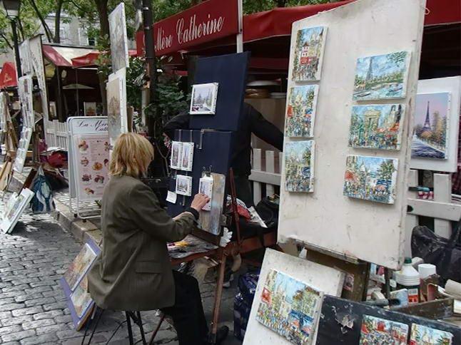 художники на вулиці Мормартр