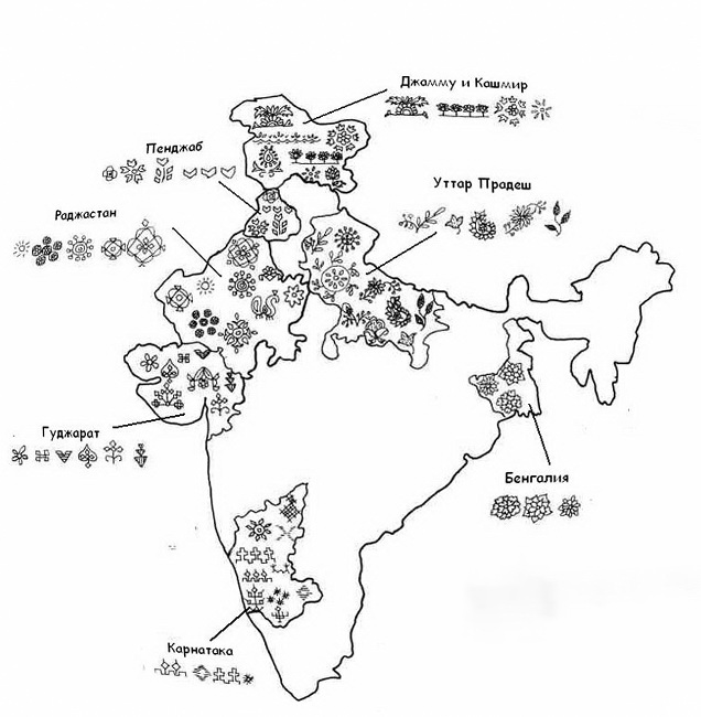етнічна вишивка Індії