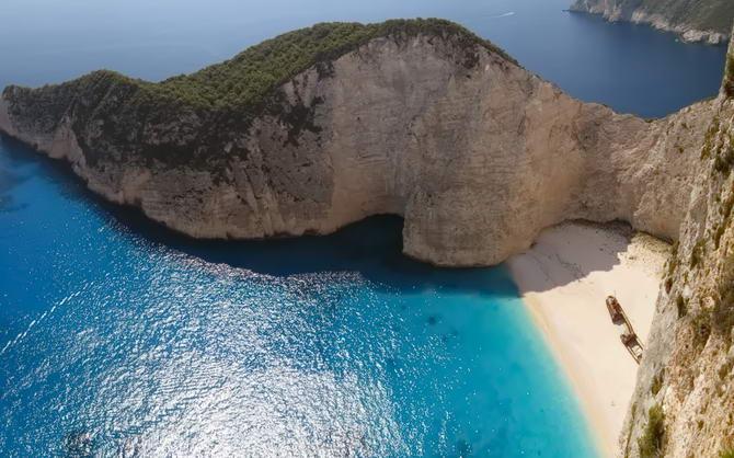 Пляж на острові Закінф