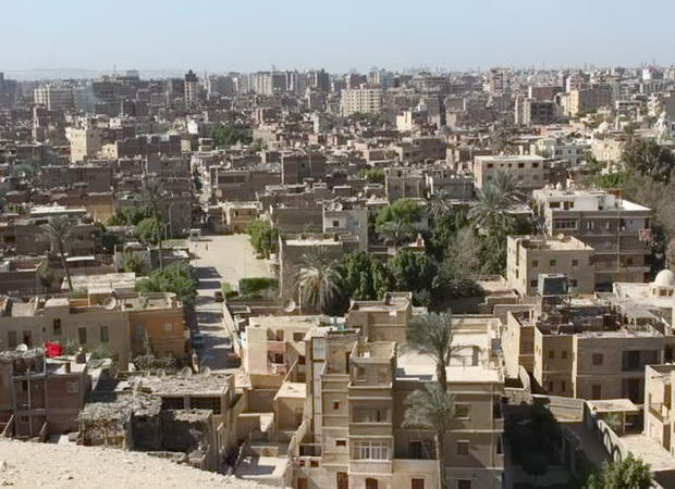 вид з плато Гіза на місто Каїр