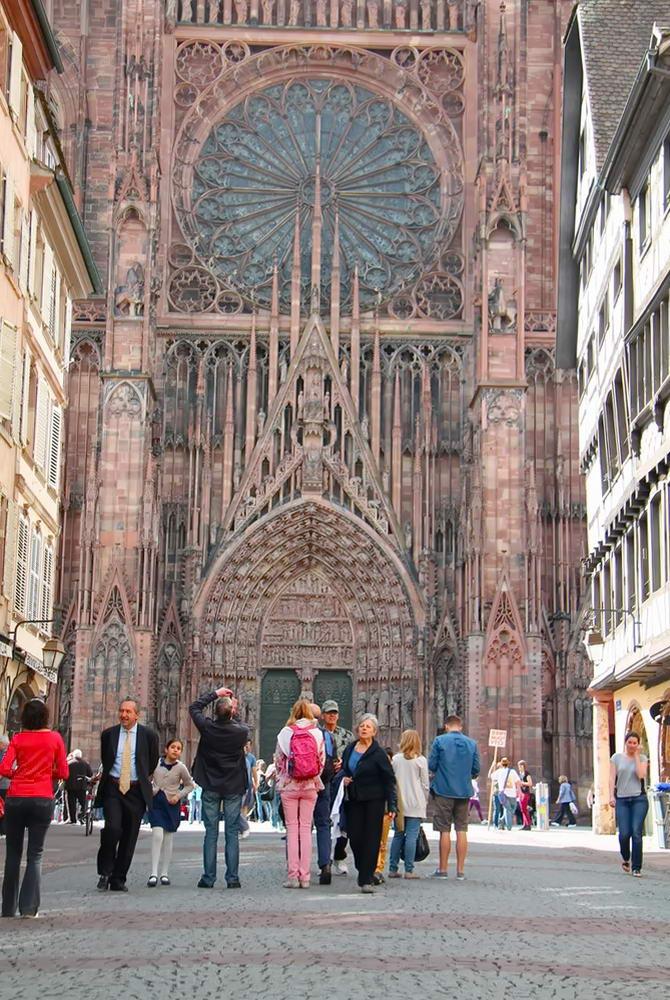 Фото кафедрального собору Страсбурга