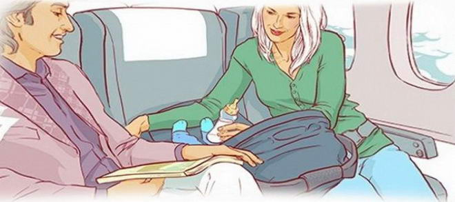 Немовля може подорожувати тільки разом з дорослими