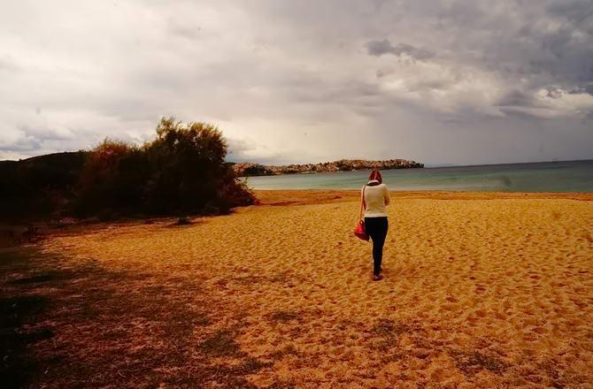 пляж в кінці жовтня