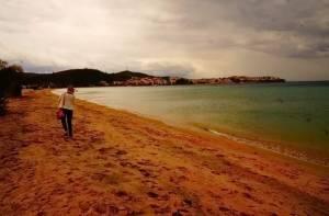 Осіння Греція: Пляж в кінці жовтня