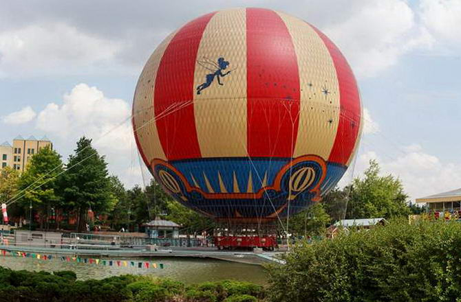 Діснейленд. Фото повітрянної кулі