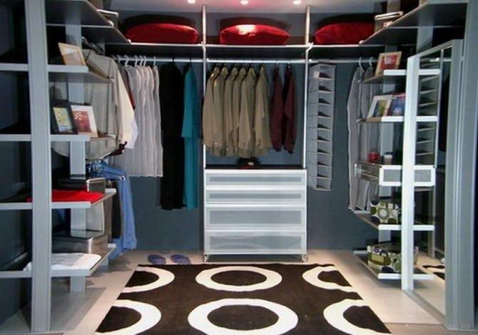 дизайн-проект гардеробной комнаты