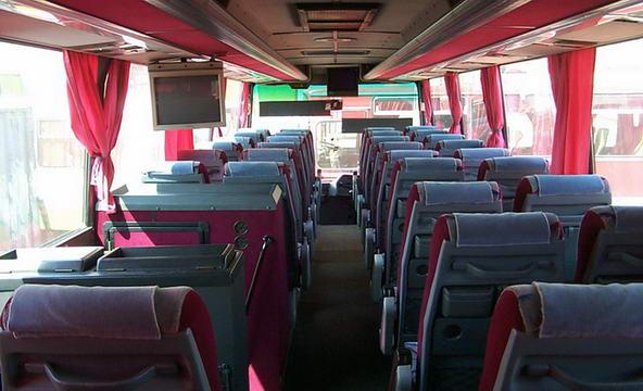 салон автобуса сдаваемого в аренду