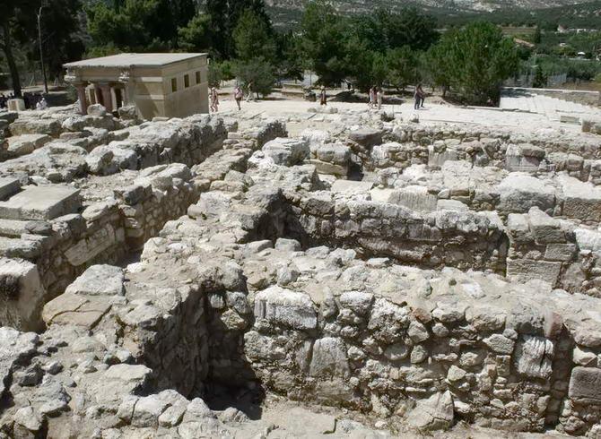 лабіринт мінотавра в палаці Коссу