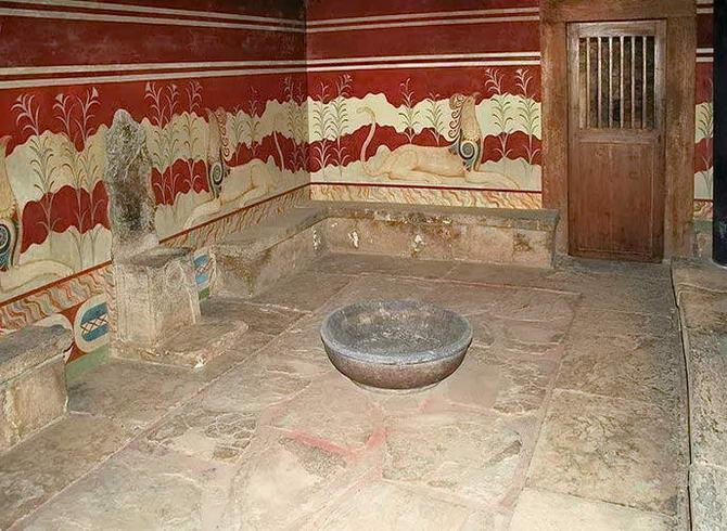 один з залів палацу Кноссу