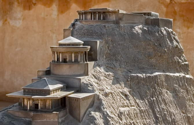 макет фортеці Масада