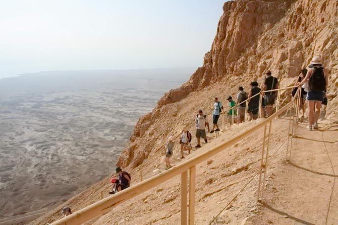Спук по Зміїній стежці з фортеці Масада