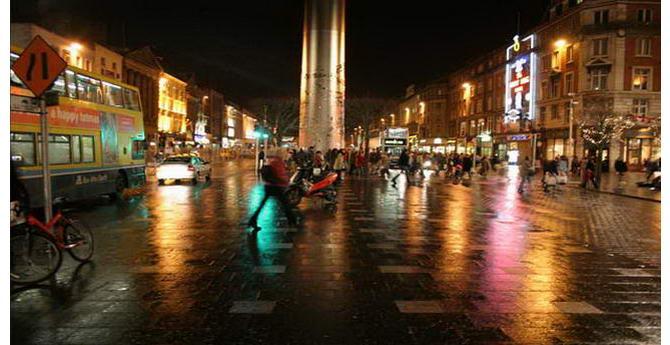 вулиці Дубліну вночі