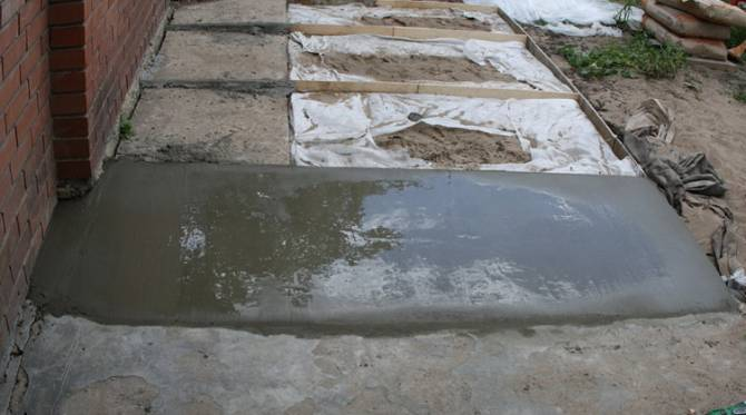 бетонная площадка своими руками