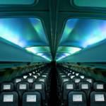 Північне сяйво усередині літака