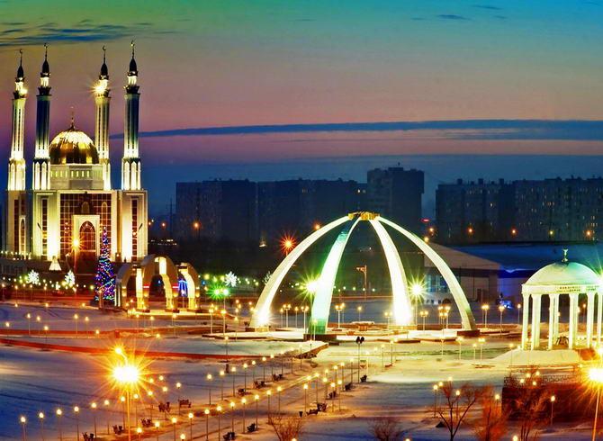 Фото центрального района города Актобе