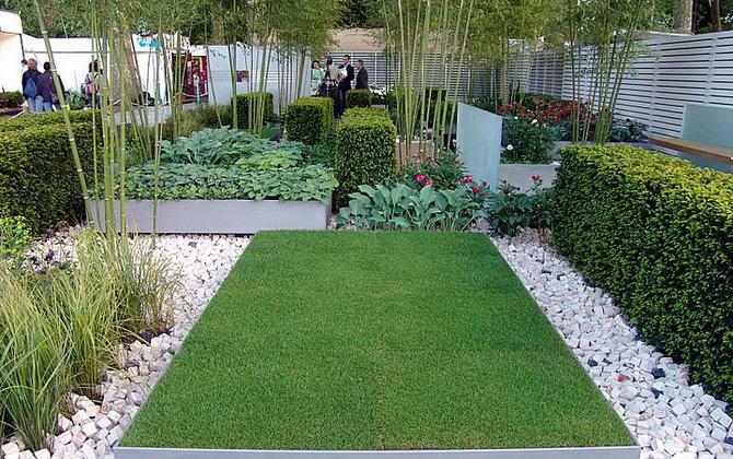 стильный рулонный газон