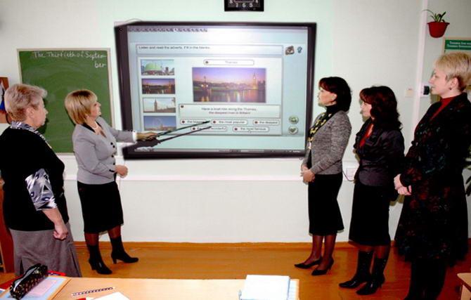 презентация материала с помощью интерактивной доски