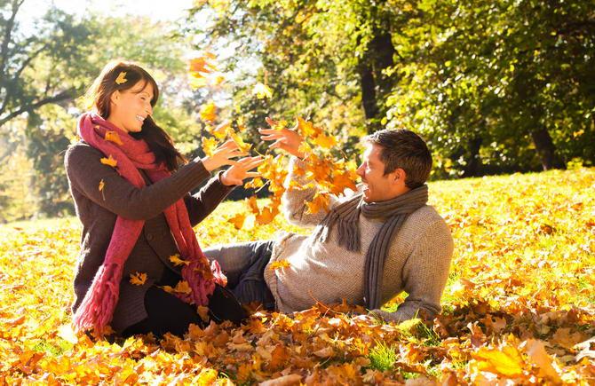 свадебное путешествие осенью