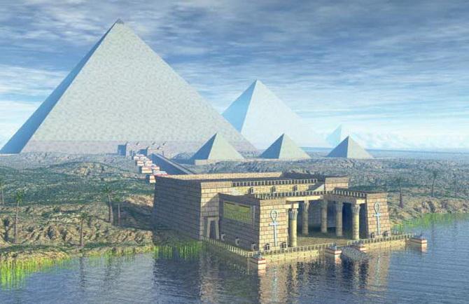 реконструкція зовнішнього вигляду пірамід