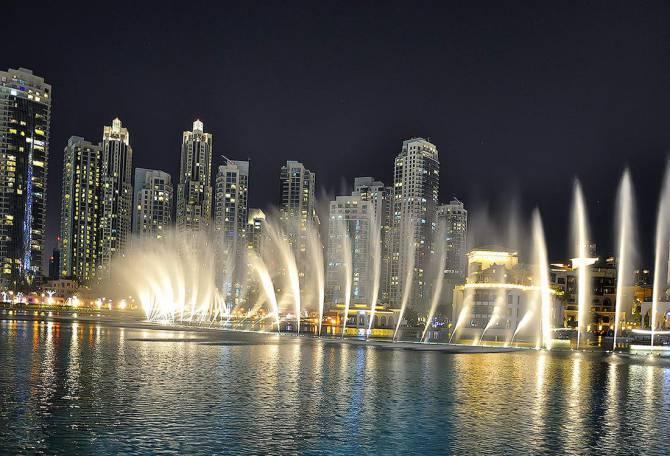 ОАЭ. Поющие фонтаны в Дубаи