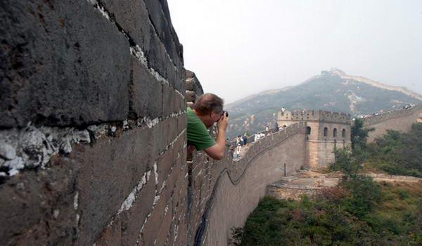 Турист на Великій Китайській стіні, Китай