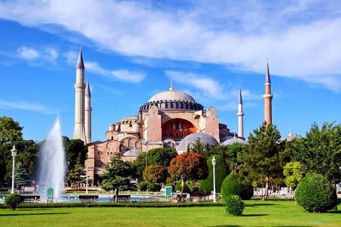 Турция. Собор святой Софии в Стамбуле