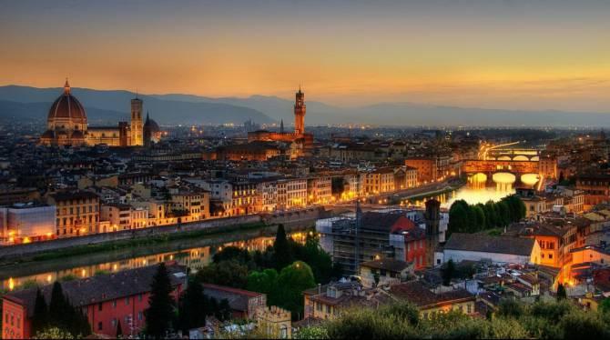 Флоренция в вечернее время