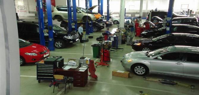 техническое обслуживание автомобиля Toyota