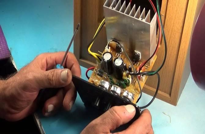 ремонт акустической системы активного типа