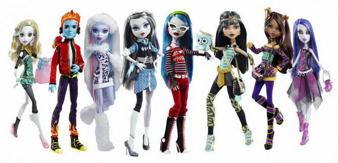 куклы из коллекции Монстер Хай