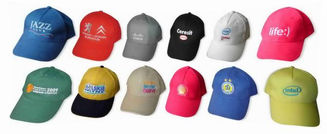 кепки з нанесеним логотипом