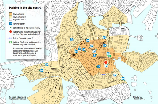 карта парковок Хельсінкі