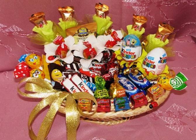 шоколадный подарок для ребенка