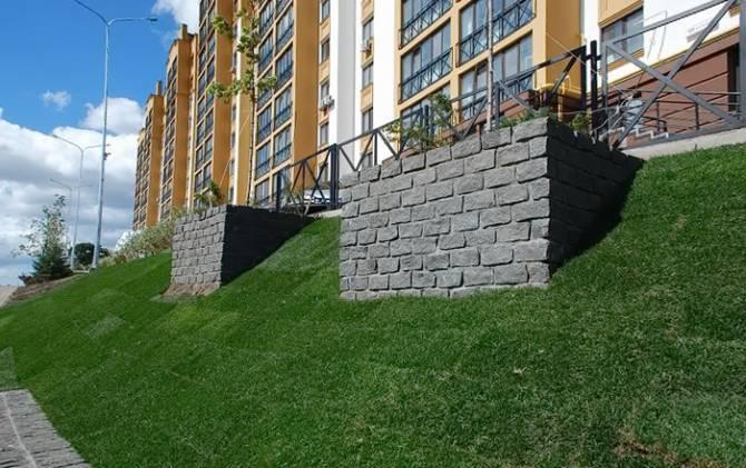 укрепление склонов для постройки