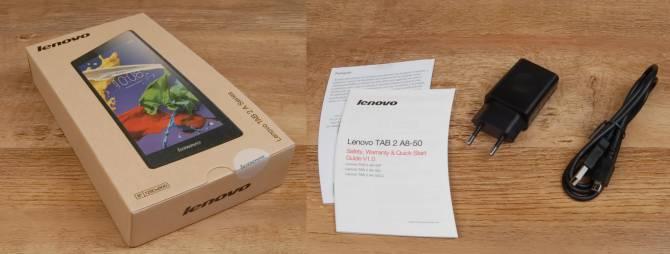 комплектация планшета Lenovo TAB 2 A8-50