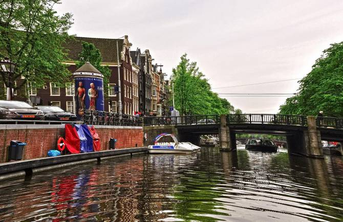каналы и мосты Амстердама