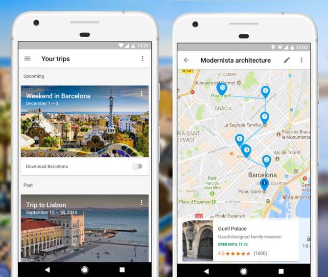 Google Trips - допоможе забронювати готель