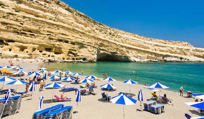 купальный сезон на Крите. Греция